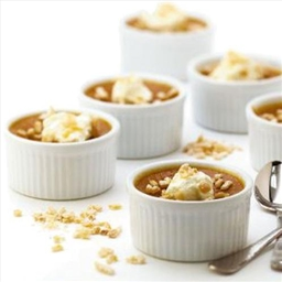 Maple-Pumpkin Custards With Crystallized Ginger