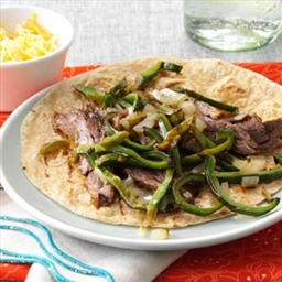 Marinated Steak and Pepper Fajitas