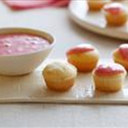 Mascarpone Mini Cupcakes with Strawberry Glaze