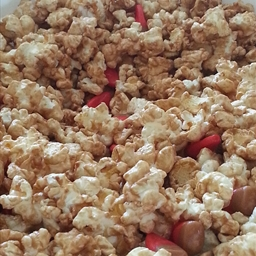 Microwave Salted Caramel Apple Popcorn