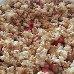 Microwave Salted Caramel Apple Popcorn