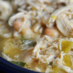 Microwave White Chicken Chili