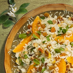 Middle Eastern Orange Mint Rice