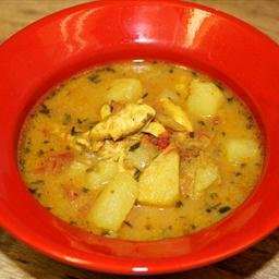 Mild Curry Chicken and Vegetable Soup