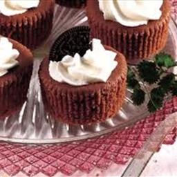 Mini chocolate cheesecakes
