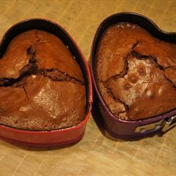 Mini Chocolate Heart Cakes