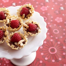 Mini Raspberry Chocolate Tarts