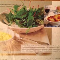 Mixed Greens with Garlic Vinaigrette