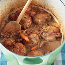 Moroccan Braised Chicken with Carrots and Golden Raisins