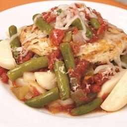Mozzarella Chicken and Italian Vegetables