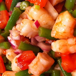 Muffi's Famous Shrimpy Beanie Salad