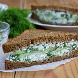 Multigrain Watercress and Cucumber Tea Sandwiches