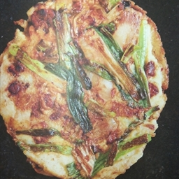 Mung Bean Pancakes with Korean Pork and Kimchi