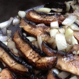 Mushrooms & Onions for Steak