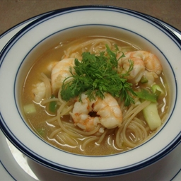 Nautico's Indonesian Shrimp Soup with Noodles