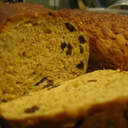 Oat Raisin Bread with Cooked Oats