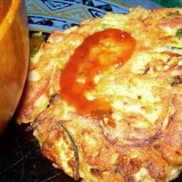Okonomiyaki (Japanese style savory pancakes)