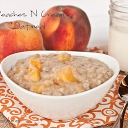 Overnight Peaches & Cream Oatmeal