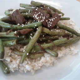 Pan-Fried Green Beans with Beef