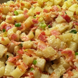 Pan Fried Potatoes and Bacon