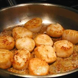 Pan-Fried Scallops