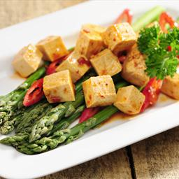 Pan-Fried Tofu with Spicy Lemongrass Sauce