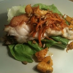 Pan fried Turbot with cinnamon carrots