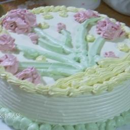 Pandanus Chiffon Cake