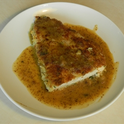 Panko-crusted Chicken with Mustard-maple Pan Sauce