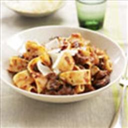 Pappardelle With Mushroom-Beef Ragu