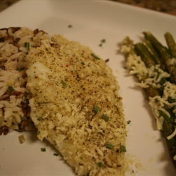 Parmesan Herb Panko Crusted Flounder