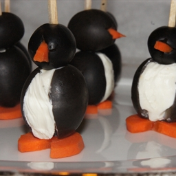 Party Penguins Stuffed with Cream Cheese