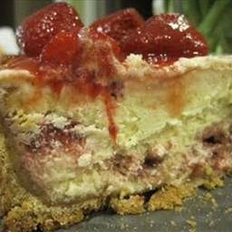 Passover White Chocolate and Raspberry Cheesecake