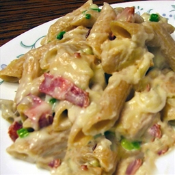 Pasta Chicken & Bacon Carbonara Casserole
