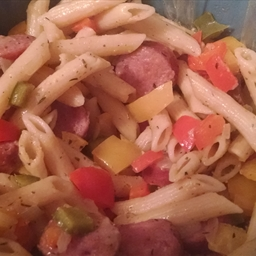 Pasta with Fresh Vegetables Recipe (with Italian Sausage)