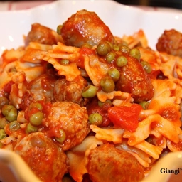 Pasta with Peas and Italian Sausage