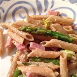 Pasta with Peas, Asparagus and Pancetta