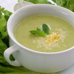 Pea, Mint And Lettuce Soup