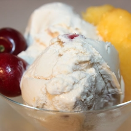 Peach and Cherry Ice Cream