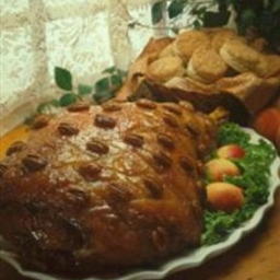 Peach-Glazed Country Ham