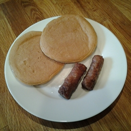 Peanut Butter Pancakes with Sausage Links