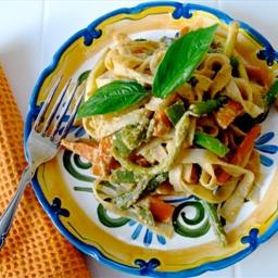 Peanut-Free Tahini Vegetable Noodle Stirfry
