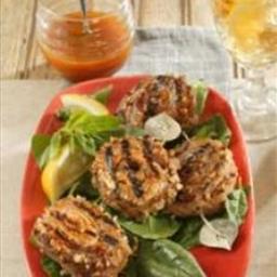 Pecan-Crusted Pork Tenderloin Pinwheels with Carolina Mustard Sauce