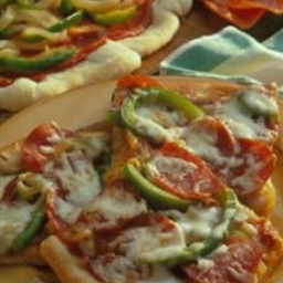Pepperoni Pizza with Peppers