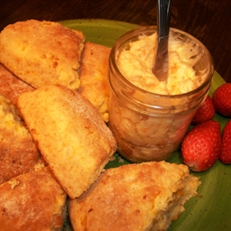 Pistachio Orange Cherry Craisin Scones With Apricot Honey Butter