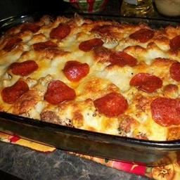 Pizza Spaghetti Casserole !!
