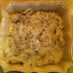 Smashed Yukon Potatoes or Red Potatoes Smashed with Garlic & Parmesan