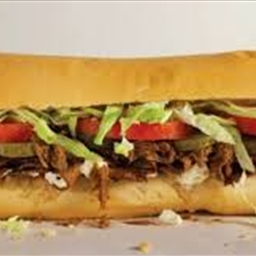 Po Boy with sloppy roast beef