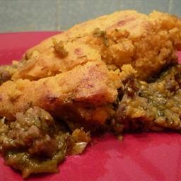 Pork and Poblano Tamale Pie