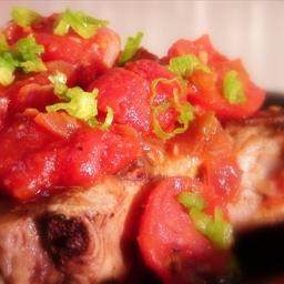 Pork Chop & Tomatoes